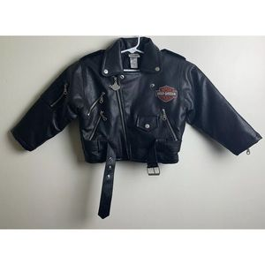 e69c9f35 Kids Harley Davidson Faux Leather Jacket Size 5